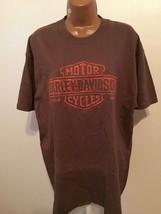 Harley Davidson NWT L Tshirt Brown Tennessee Dealers Logo Is Raided Lett... - $17.82