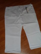 Jones New York J EAN S Capri Size 24W Stretch Secret Slimming White MSRP:$84 Nwt - $23.99