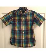Tommy Hilfiger Boys XS 4-5 Multi-Color Plaid Short Sleeve Button Shirt T... - $5.93