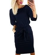 Kesujin Women's Autumn Dresses for Women Work Clothes Party Bodycon Midi... - $27.26