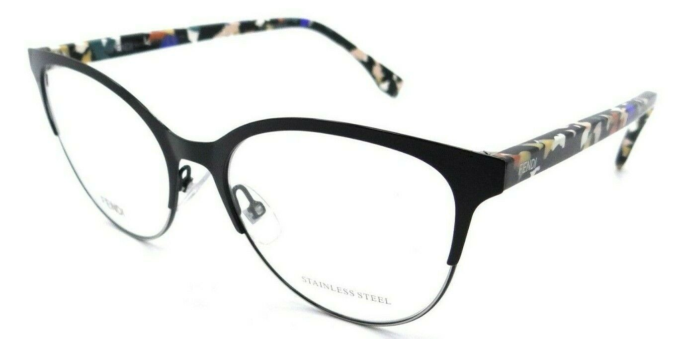 Primary image for Fendi Rx Eyeglasses Frames FF 0174 TWH 54-17-145 Black Multicolor Made in Italy