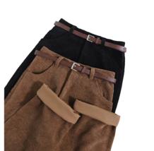 RFA Female Corduroy Pants Black Brown / Wide Leg / High Waist / Casual /... - $29.99