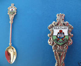 BERMUDA Souvenir Collector Spoon Collectible COAT OF ARMS Emblem Shield - $6.95