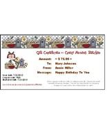 $75 Gift Certificate gift card Crazy Annie's Stitchin - $75.00