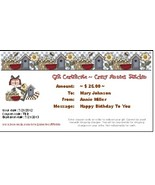 $25 Gift Certificate gift card Crazy Annie's Stitchin - $25.00