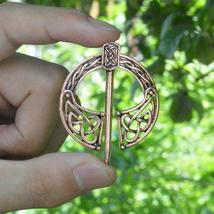 Penannular Brooch Bronze Pendant Cloak Historical Medieval Viking Jewelry Brooch - $3.99