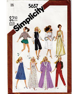 Vintage 1982 BARBIE & Fashion Doll Wardrobe Simplicity Pattern 5637-s - $10.00
