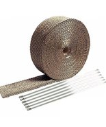 """E Support 2"""" x 50' Titanium Lava Exhaust Header Pipe Heat Wrap Stainless... - $23.35"""