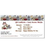 $10 Gift Certificate gift card Crazy Annie's Stitchin - $10.00