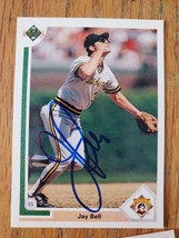 Jay Bell ~ Pittsburgh Pirates ~ 92 Upper Deck ~Signed Autographed Baseba... - $2.93