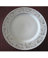 Adele Fine China, Pattern Number 6508 Gray and white roses, dinner plate... - $12.95