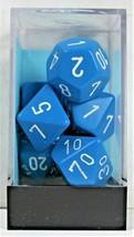 Chessex 7 Piece Dice Set Opaque Light Blue w/White 25416 D4 D6 D8 D10 D1... - $3.99