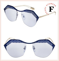 BVLGARI SERPENTEYES BV6109 Gold Matte Blue Scales Metal Sunglasses 6109 - $296.01