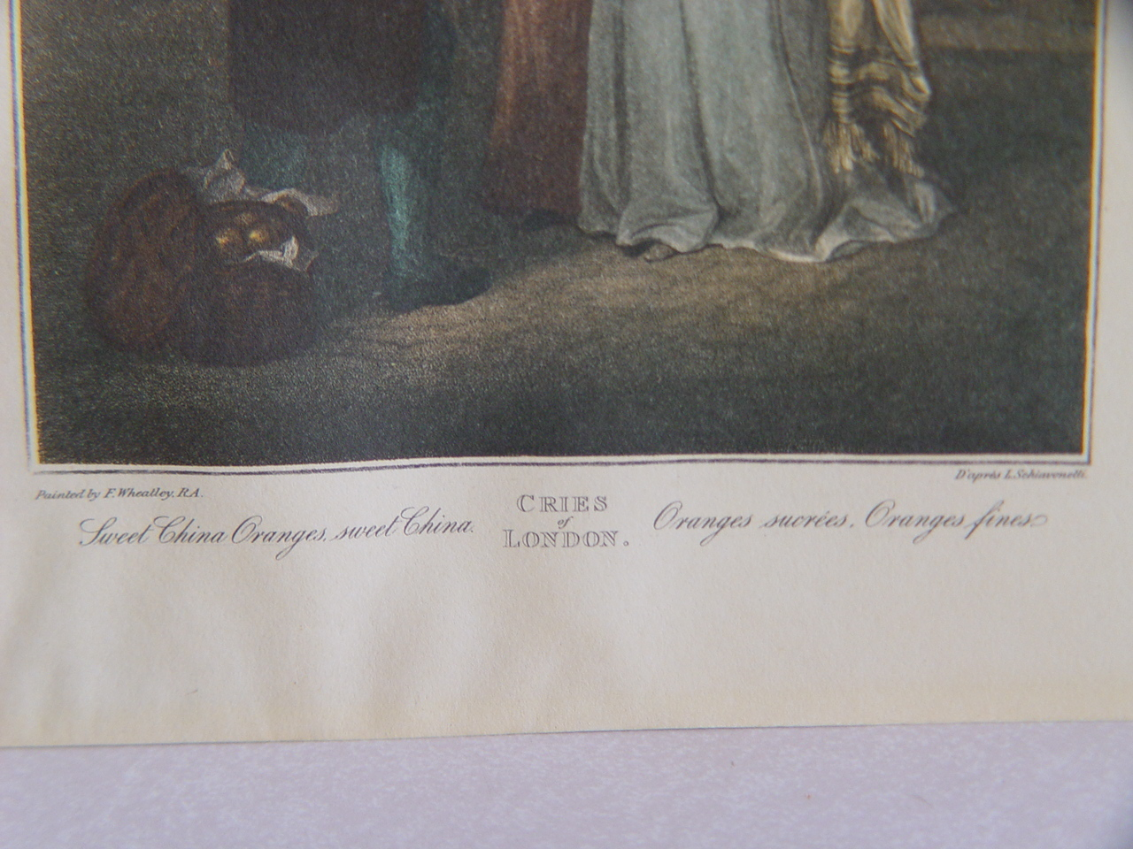 Two Hand colored Engravings of Cries of London by L. Schiavo