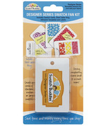 Swatch Buddies Designer Series 12pc Swatch Fan Kit fabric swatch organizer  - $13.50
