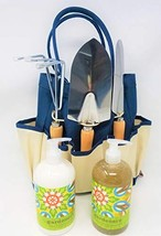 Gardeners Tool Tote Gift Basket - Garden Tool Set With Hand Care - Gift Box Set  - $60.52