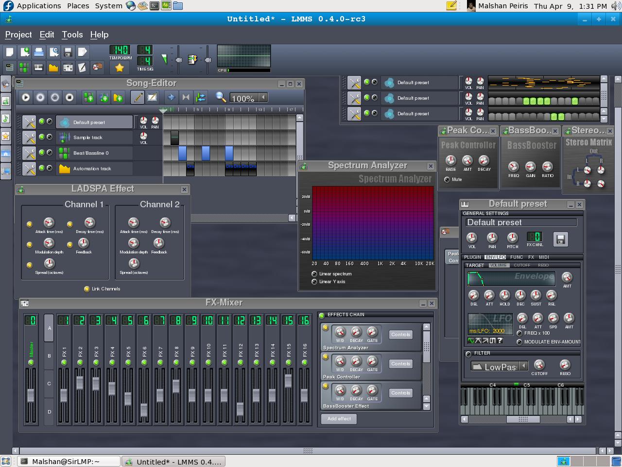 Linux multimedia studio lmms great alternative to fl for Salon multimedia