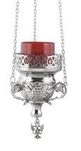Hanging Nickel Plated Christian Vigil Lamp (9770 ?) - $79.77