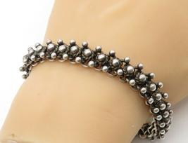 BALI 925 Silver - Vintage Ball Bead Design Swirl Link Chain Bracelet - B... - $137.59