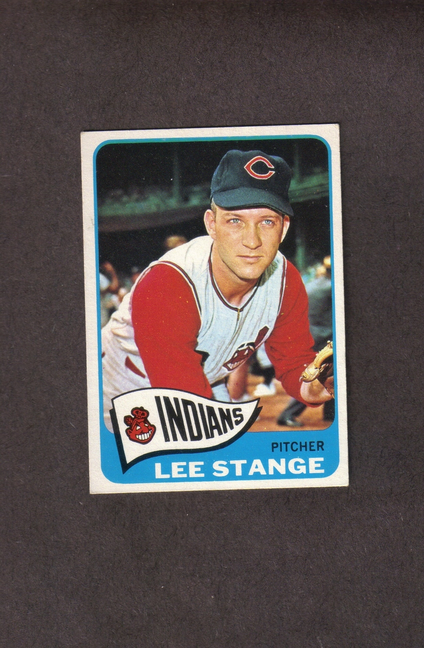 1965 Topps # 448 Lee Stange Cleveland Indians