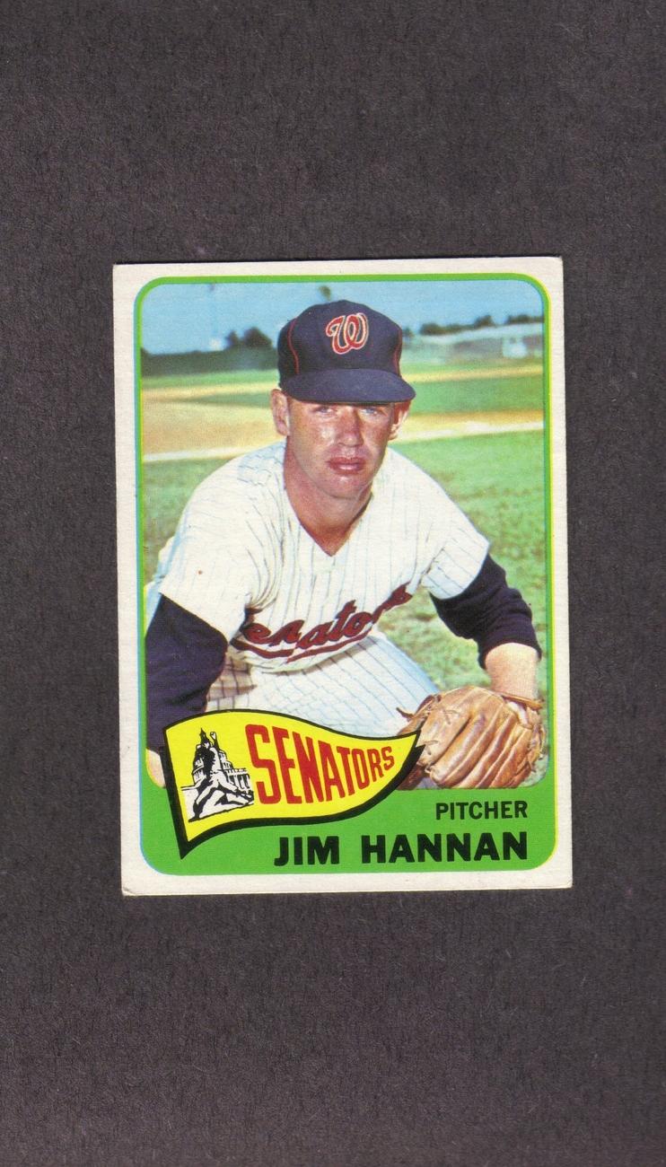 1965 Topps # 394 Jim Hannan Washington Senators