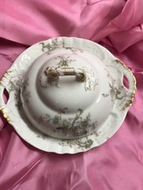 Antique Haviland Limoges 3 Piece Covered Butter or Cheese Dish, Ice tray. - $47.52