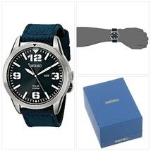 Seiko Men's Blue Dial Blue Nylon Strap Solar Watch - $146.67