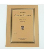 Selected Czerny Studies Book One 1906 by Emil Liebling - $17.74