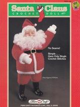 Santa Claus Christmas Doll, Fibre Craft Crochet Pattern Booklet FCM143 HTF - $4.95