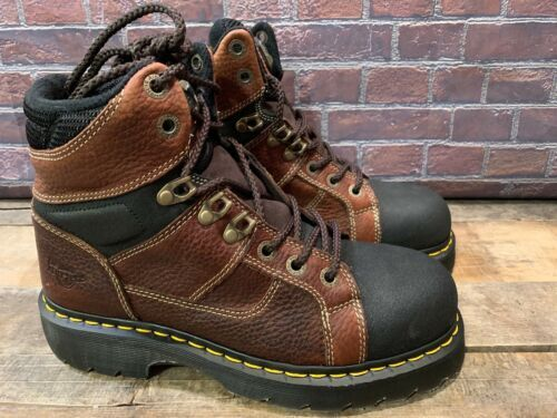 2cb19e3653a DR MARTENS Iron Bridgett Steel Toe Brown and 50 similar items