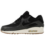 NIKE WOMEN'S AIR MAX 90 PREM SHOES black sail gum brown 443817 010