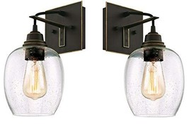 Westinghouse Eldon One-Light Indoor Wall Fixture, Oil Rubbed Bronze Finish with  - $64.61