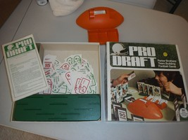 PRO DRAFT Vintage 1974 Team Building Football Game by Parker Brothers 9 ... - $18.95
