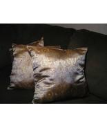 """3 beautiful brocade paisley throw pillows 18"""" x 18"""" poly fiber filler - $45.00"""