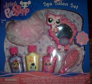 Littlest Pet Shop Spa Salon Set NEW Bubble Bath Lotion