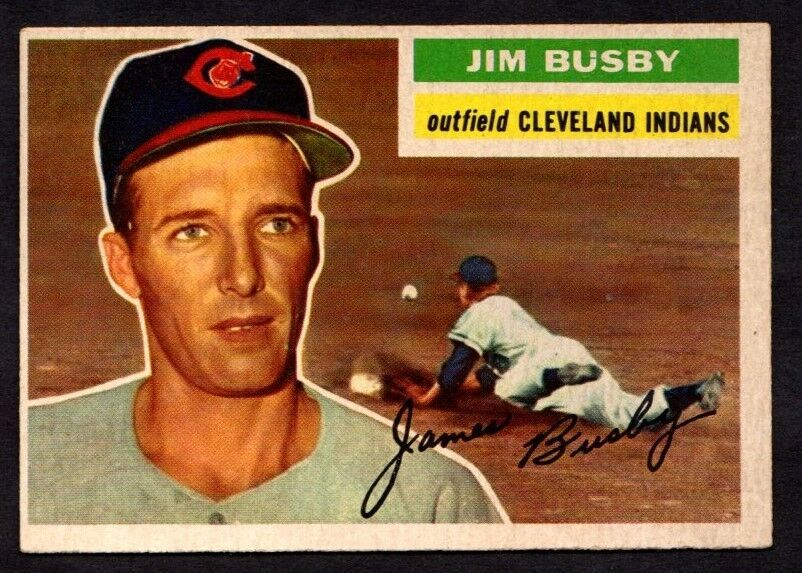 Primary image for 1956 TOPPS #330 JIM BUSBY BASEBALL CARD (GB) CLEVELAND INDIANS