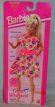 1993 Barbie Great Weekend Wear Floral Dress Fashions Mattel 68014 - $9.99