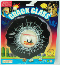 CHICAGO CITY - CRACKED GLASS BASEBALL IN WINDOW COVER NOVELTY GIFT TOY NEW - $5.88