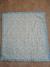 Child Of Mine By Carters Blue Bears Baby Blanket 100% Cotton With Satin Trim - $21.77