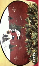 Snowman Christmas Tree Skirt Glittery - $18.00
