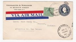 STEINHARDTER & NORDLINGER NEW YORK NY JULY 8 1941 AIR MAIL  - $2.98