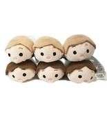 Set of  6 Star Wars Tsum Tsum Plush 3 Han Solo and 3 Luke Skywalker - $12.62