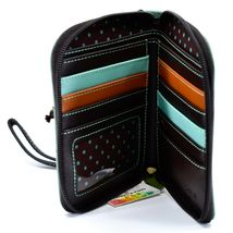 Chala Handbags Faux Leather Whimsical Cow & Butterfly Zip Around Wristlet Wallet image 3