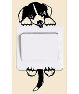 Funny Cute Cartoon Doggy Dog Pet light switch Sticker Bedroom Vinyl Ligh... - $4.90
