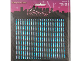 MultiCraft Imports Mini Gem Lines, Blue and Silver Stickers #MZ050D