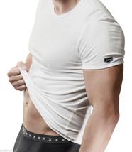 KXSS - Designer Men's Soft Combed Cotton crew neck T Shirt Vest - White - $7.97