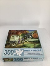 Bits & Pieces Rainbow Dairy Farm 300 Large Pieces by Linda Picken Jigsaw... - $8.59