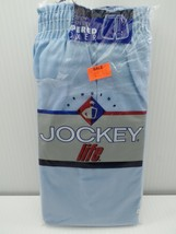 Jockey Life Tapered Boxer 1 Underwear 38 Large Blue Solid Cotton Blend 1... - $19.99