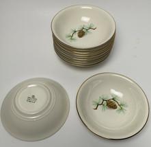 Vtg Homer Laughlin Nautilus Eggshell Pine Cone Fruit Berry Bowls Lot of 11 - $49.49