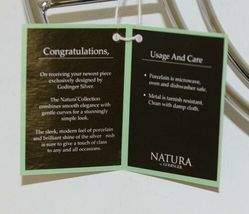 Godinger 6387 Natura 11 By 16 Inch White Porcelain Serving Tray With Rack image 6